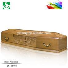 Europeu padrão semi-brilho profissional escultura com forro profissional para a decoração do caixão