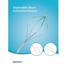 Cesta de endoscopia CPRE diamante forma extracción de piedra