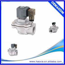 Material de aleación de aluminio 1 pulgada de pulso de aire válvula 12v solenoide por buen precio