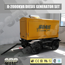 Trailer Mobile Diesel Generator Set with Water Cooled Engine Sdg110wst