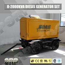 Conjunto de gerador de diesel móvel de reboque com motor refrigerado a água Sdg110wst