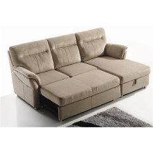 Sofá de la sala de estar con el sofá moderno del cuero genuino (722)