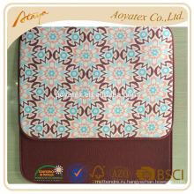 Цветок печатных махровой ткани блюдо сушки коврик с атласной ослепления для использования кухни