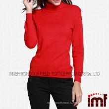 Монгольские женские кашемировые осенние красные трикотажные свитера