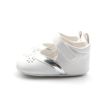 Pure White Wholesale PU Baby Girl Shoes Dress Shoes