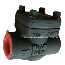 API602 de acero forjado A105 rosca NPT Válvula de retención oscilante