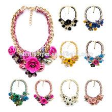 2017 Luxus Multicolor Kristall Schmuck Halsband Frauen Mode Chunky Aussage Halskette