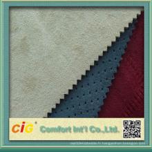 Tissus en peau de faux fourrure en daim colorés de nouvelle conception de haute qualité