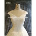 2016 New Fashion Real Foto Leder Hochzeitskleid