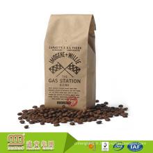 Sacs de café colombiens de papier d'impression de papier d'emballage de Kraft de catégorie comestible de vente en gros d'usine de FDA avec la valve