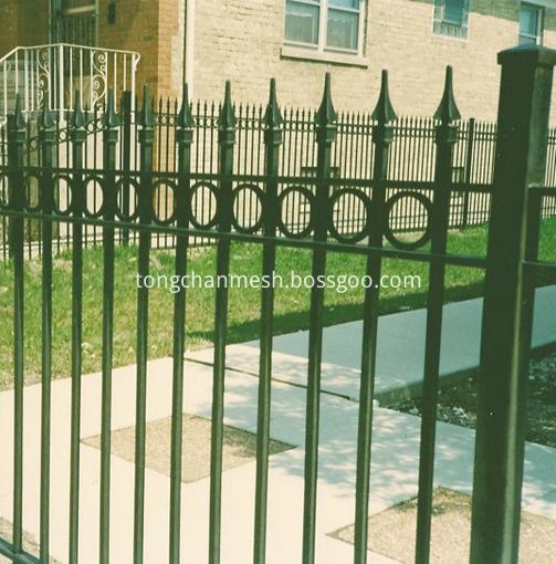 art metal powderd mesh fence