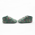 Printing Army Green Soft Sole Baby Oxford Shoes