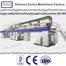 Duplex coating head multifunction pape coating machine
