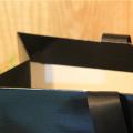 Satin Ribbon Handle Full Black Color Paper Bag