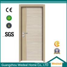 Puerta de madera blanca de la base hueco prismática de la melamina para el hotel (WDHC04)