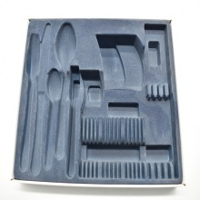 Custom Flocking Tableware Plastic Blister Tray