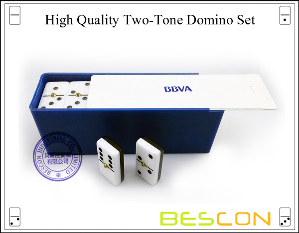 High Quality Two-Tone Domino Set