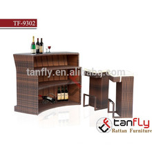 rattan/wicker furniture high top bar stool with cushion and bar table