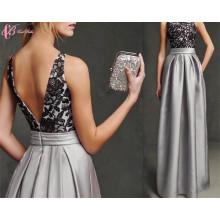 2017 Qualitäts-reizvolle Spitze-Applique-Polyster-Vestidos-De-Fiesta-Abend-Abendessen-Kleid-Abschlussball-Kleid