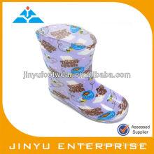 Pvc botas de lluvia transparentes para niños