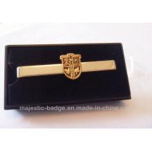 Gold Plating & Iron Die Struck Tie Clip with Present Box