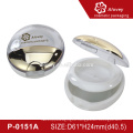 Empty plastic powder compact case powder container