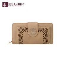 HEC en gros personnalisé main sacs à main en PVC PU cuir femmes portefeuille