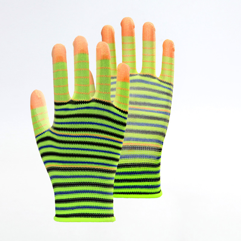 Zebra Pattern PU Work Gloves