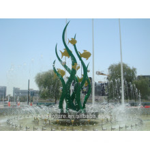 Modern Large Stainless steel Arts Abstract Fountain sculpture for Outdoor decoration