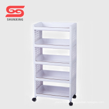 High quality plastic material shelf storage for container sundries