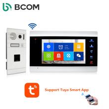 Bcomtech New Launched Tuya wifi video intercom with fingerprint unlock for villa use
