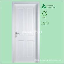 4 Панели Белый Грунтованный Краски Деревянные Двери