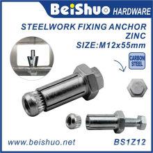 M12X20X55mm Carbon Steel Threading Machine Expansion Bolt