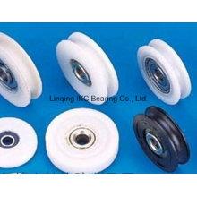 Roulement de poulie en plastique de roue, pièces en plastique