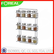 Chromed Metal Wire Spice Rack