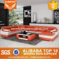 Fashionable Round shape modern new design corner sofa, corner sofa set designs and prices, corner sofa