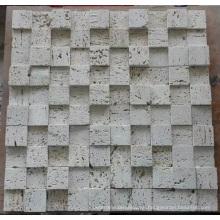 Mosaico de mosaico 3D mosaico de mármol de piedra (HSM205)