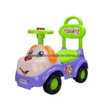 Прекрасный мультфильм автомобиль закрутки собака для ребенка со звуком и руль