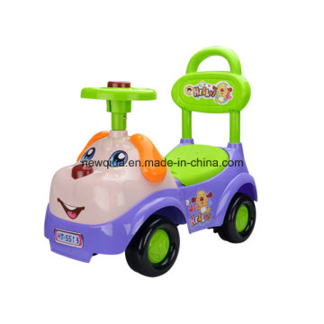 Lovely Cartoon Dog Twist Car for Baby with Sound and Steering Wheel