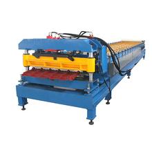 Color acero azulejo esmaltado que forma la máquina