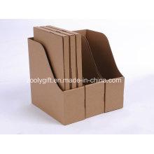Cartouche de papier Kraft Brown de qualité et boîtes de support de fichier