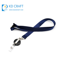 Free sample cheap custom promotional sublimation detachable blank lanyard with badge reel