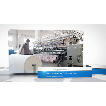 CS94 Industrial Frame Moved Multi-Needle Computadorizado Quilting Machine