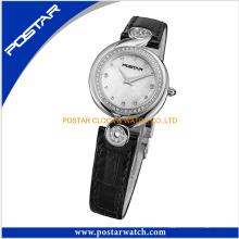 Relógio único japão quartzo aço inoxidável vogue senhora relógio