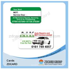 Cartão impresso do PVC do presente plástico sem contacto PVC do presente