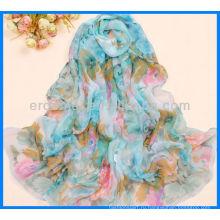 Мода Печатная атласная рекламный шарф Пзготовителей