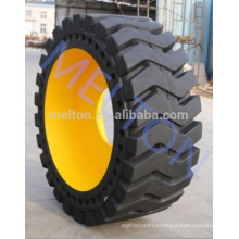 good price high quality solid tire 17.5-25 with rim