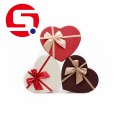 Пользовательский дизайн Heart Shaped Cardboard Gift Box