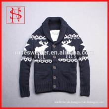 Winter-Männer Schal Kragen Strickjacke Weihnachten Pullover mit Hirsch