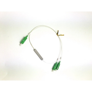 PLC1 * 2 mini aço splitter sc apc upc connector